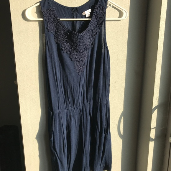 56d5653c70bcd target Dresses | Blue Summer Romper | Poshmark